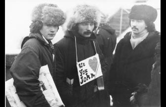 Митинг памяти Джона Леннона на Ленинских горах. 1980 г. Фото: openmusicblog.com