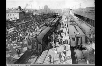 Платформы Ярославского вокзала (1932–1935). Фото: PastVu