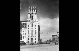 Площадь Калужской заставы. 1950–1955 гг. (датировано PastVu). Фото: PastVu