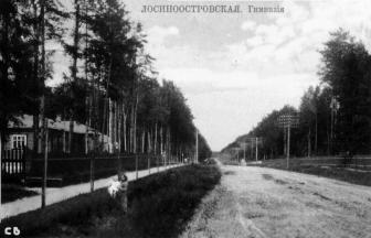Лосиноостровский педтехникум открылся на месте гимназии 1910-го года постройки. Фото: PastVu