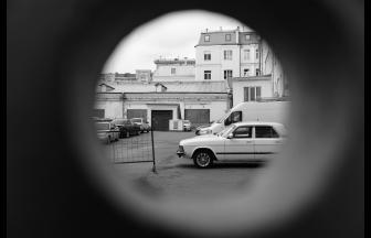 Двор со стороны Варсонофьевского переулка. Фото: архив общества «Мемориал»