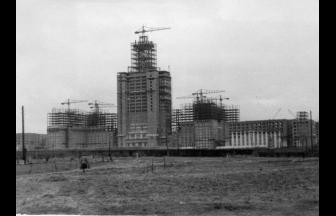 Строительство главного здания МГУ. Фото: Архив rofelen