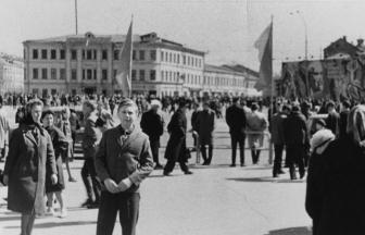 Октябрьская площадь. 1967 г. Фото: PastVu