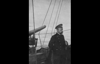 А.М. Щастный на борту «Кречета» во время Ледового похода. 1918 г. Фото: из книги «Дело командующего Балтийским флотом А.М. Щастного»