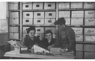На занятиях. 1946–1948 гг. Фото: mosarchiv.mos.ru