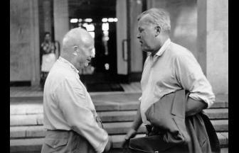Никита Хрущев и Александр Твардовский, снимок Владмира Лебедева. Первая половина 1960-х. Фото: solzhenitsyn.ru