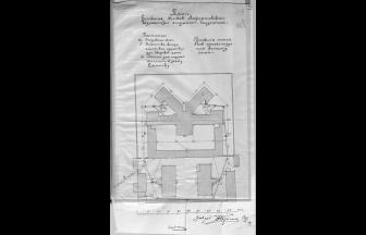 План Московского Лефортовского изолятора с/н, 1924. Фото: ГАРФ. Ф. Р4042. Оп. 2. Д. 44
