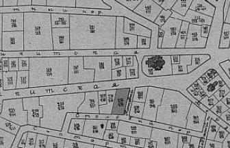 Домовладение полицейского дома 258/239 затемнено. Фото: «Вся Москва», 1904