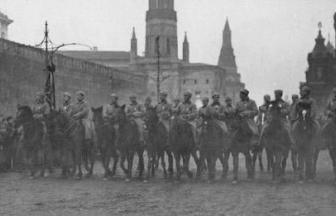 Конная милиция в Москве, 1918 г.