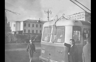 Новинский переулок, 1962. На заднем плане (предположительно) — арестантский корпус. Фото: PastVu.