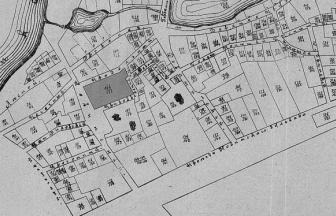 Квартал Новинской тюрьмы. Домовладения тюрьмы 164/171 затемнены. Фото: архив общества «Мемориал»