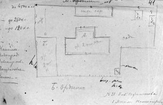 Схема Ордынского концлагеря. 1921 г. ГАРФ. Ф. Р-4042. Оп. 1а. Д. 6. Л. 41