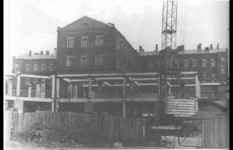 Строительство нового корпуса Полиграфического института. Фото: PastVu