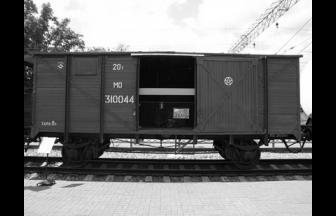 Товарный вагон-«теплушка». Фото: Ю. Филатов. Путешествие в «теплушке» // Локотранс, 2014, № 5