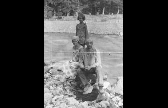 Г. С. Фридлянд с женой и дочерью. Фото: семейный архив З. Ф. Световой, «Последний адрес»
