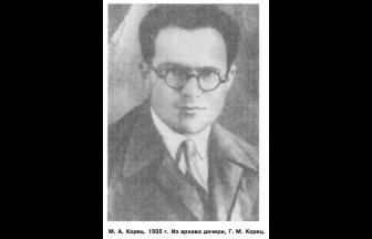 М. А. Корец. 1935. Фото: Горелик Г. Е. «Моя антисоветская деятельность...»: один год из жизни Л. Д. Ландау // Природа. 1993. № 11