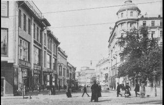 Угол Кузнецкого моста и Большой Лубянки. Д. 16 слева. 1908–1910. Фото: PastVu