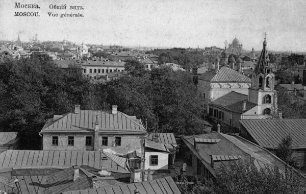 Панорама Поварской и Кудрино. Начало XX в. Фото: oldmos.ru