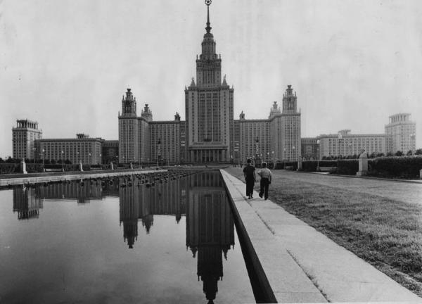 Главное здание МГУ, 1960-е гг. Фото: PastVu