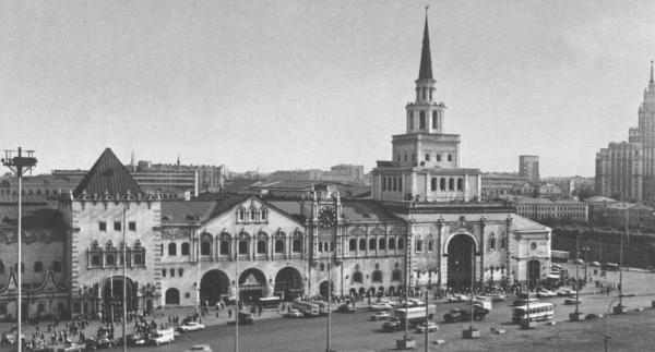 Казанский вокзал, 1960-е гг. Фото: PastVu