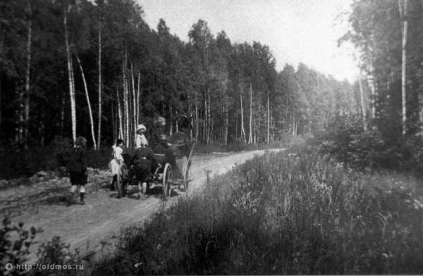 Лианозово. Дорога от станции к шоссе. 1910-е гг.