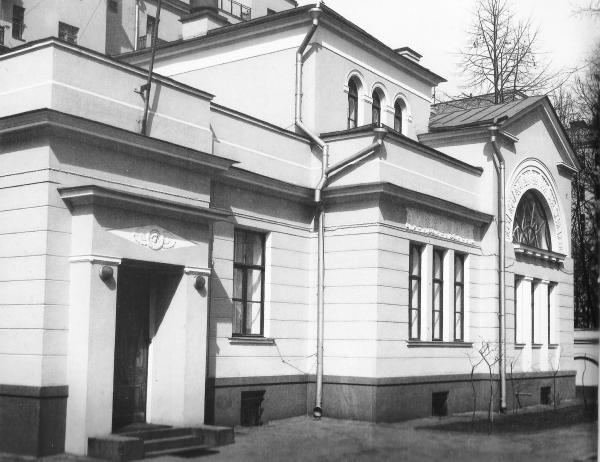 Первое здание в Георгиевском (Вспольном) переулке, где размещался в 1918–1919 гг. Ревтрибунал при ВЦИК. Позднее здесь жил главный обвинитель на политических процессах, будущий комиссар юстиции Н. В. Крыленко. Фото: PastVu