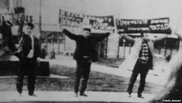 Демонстрация крымских татар в Москве 6 июня 1969 г. Фото: ru.krymr.com