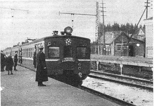 Станция Поварово. 1954 г. Фото: PastVu