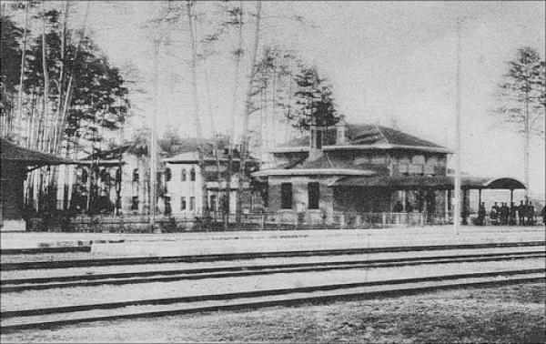 Станция Кожухово окружной железной дороги. Начало XX века. Фото: архив Общества «Мемориал»
