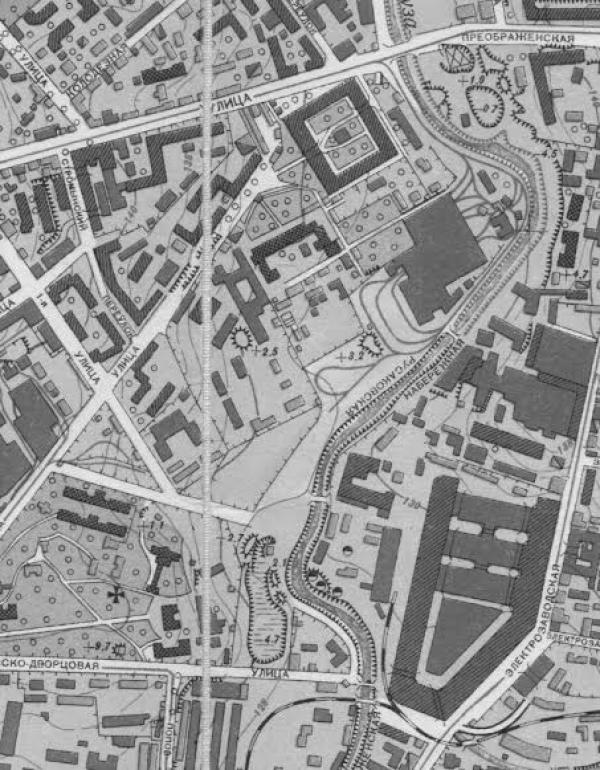 Район Матросской Тишины в 1950 г.
