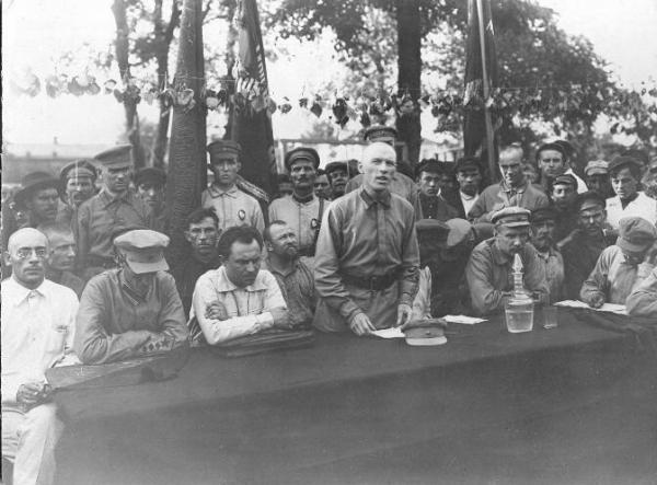 Портрет участников Военного трибунала, 1920-е. Фото: russiainphoto.ru