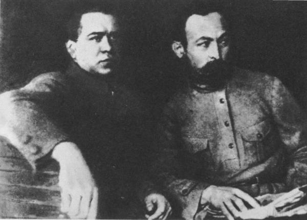 Ф.Э. Дзержинский и Я.Х. Петерс.1919 г. Фото: humus.dreamwidth.org