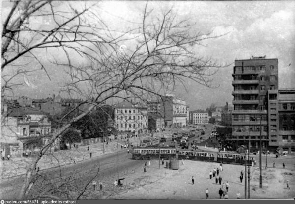 Земляной Вал до реконструкции. 1934–1936 гг. Фото: PastVu