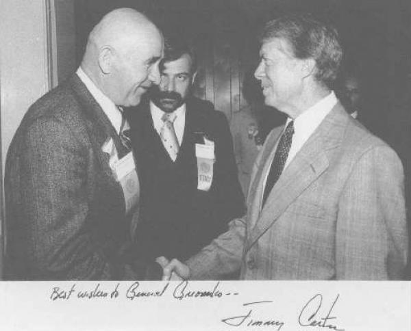 Петр Григоренко и президент США Джимми Картер. Фото: архив общества «Мемориал»