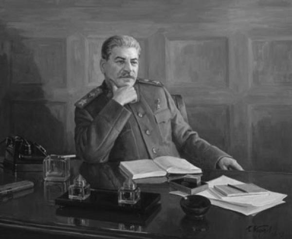 И.В. Сталин. Портрет работы Бориса Карпова. Фото: hrono.ru