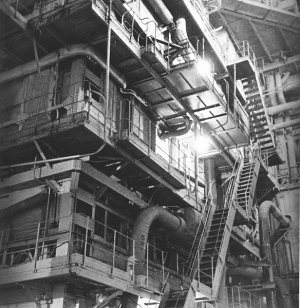 Прямоточный котел. Разработан заключенными специалистами ОТБ-11 во главе с Л. Рамзиным. 1933 г. Фото: архив Музея энергии