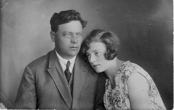 А.Т. Стельмахович с женой Г.Г. Мухиной. 1928 г. Фото: wikipedia.org