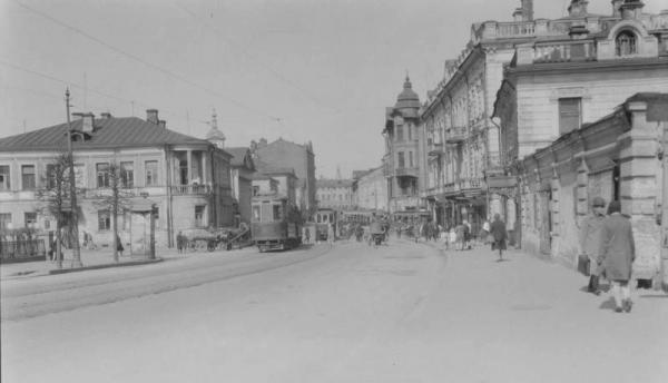 Ул. Волхонка в конце 20-х гг. Фото: alter_vij.livejournal.com