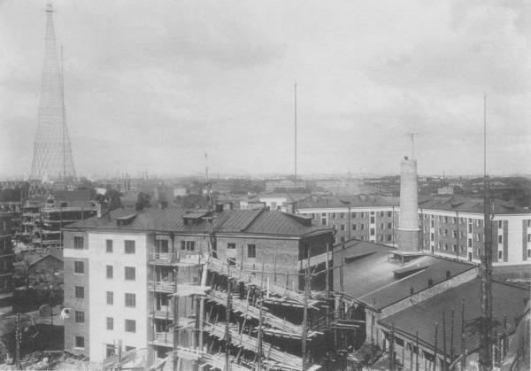 Вид на Шаболовку, предположительно 1927-1929 гг. Фото: PastVu