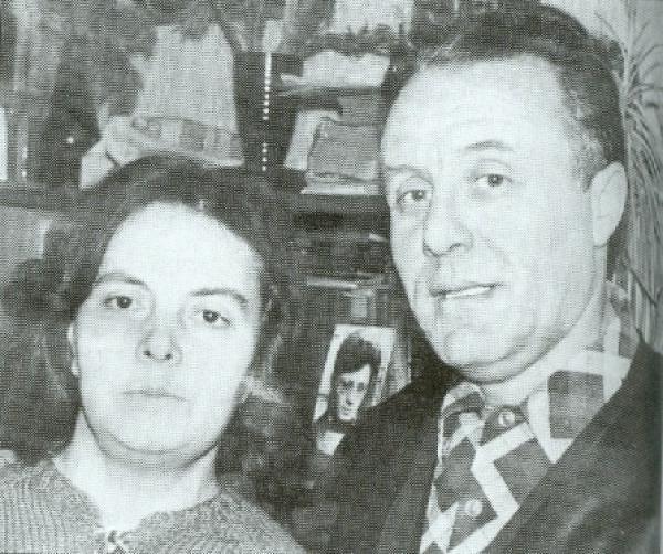 Вероника Туркина и Юрий Штейн. Фото: Солженицын А. И. Бодался телёнок с дубом. М.: Согласие, 1996