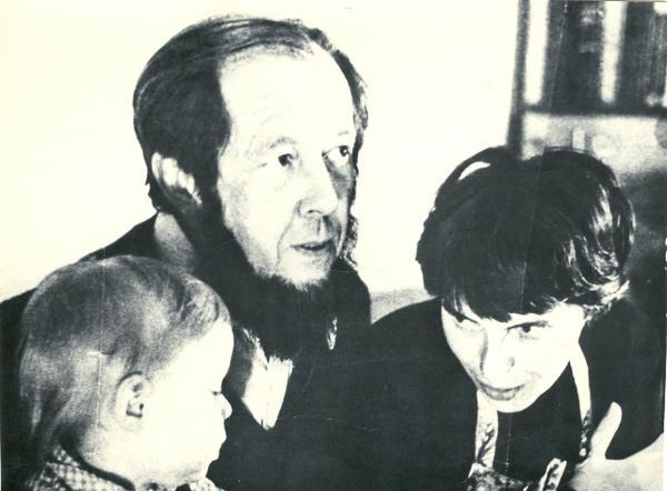 Солженицын с женой и сыном. 1972 г. Фото: архив «Международного Мемориала»