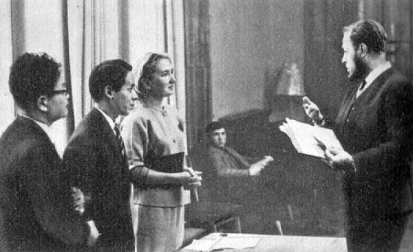 Встреча-интервью с С. Комото. 1966 г. Фото: peremeny.ru