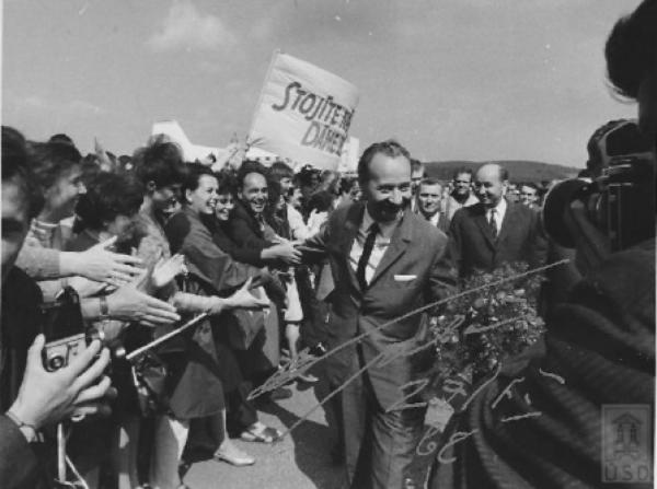 Александр Дубчек в Братиславе, 2 августа 1968 г.