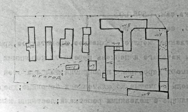 Таким образом располагались корпуса Таганской тюрьмы в 1920 г. Фото: архив общества «Мемориал»