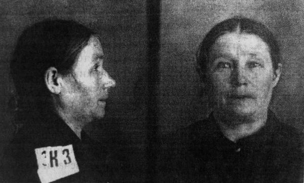 Наталия Козлова, Таганская тюрьма, 1937. Фото: архив общества «Мемориал»