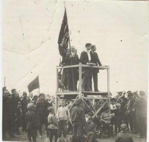 Митинг на Ходынском поле. 1920-е
