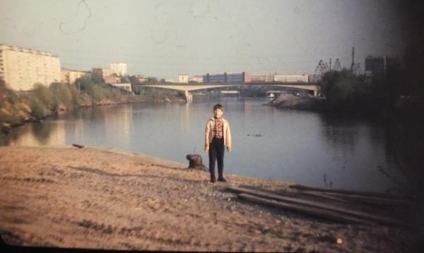 Вид с причала асфальтобетонного завода № 1. Фото: В. Легошин, PastVu
