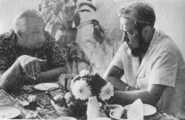 Тимофеев-Ресовский и Солженицын в Обнинске. 1967 г. Фото: peremeny.ru