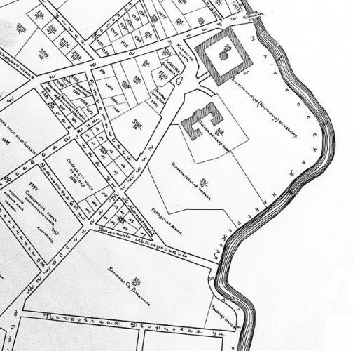 План городских участков 1917 г. Исправительная тюрьма (под номером 209) располагается между улицей Матросская Тишина и Матросской набережной Яузы. Фото: etomesto.ru