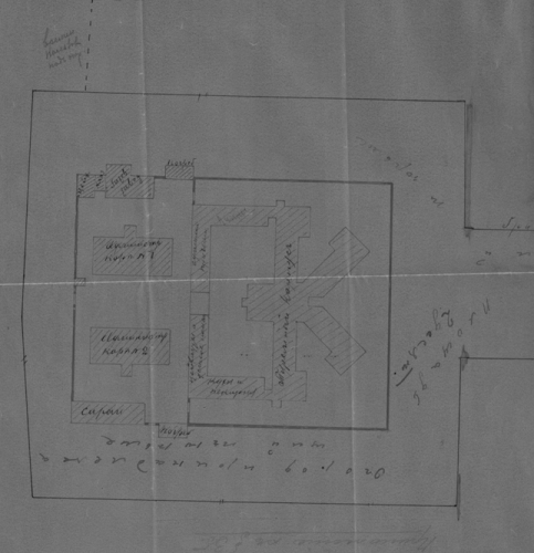 План Московской Лефортовской тюрьмы, 1920. Фото: ГАРФ. Ф. 4085. Оп. 11. Д. 131